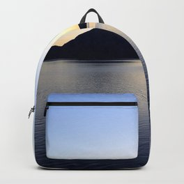 Salish Sea Sunset - Canada - With Text Backpack