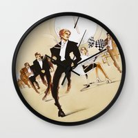 friday Wall Clocks featuring Friday by Xenia Ericovna