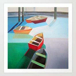 Five Boats Art Print