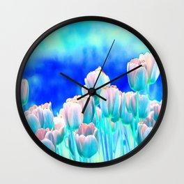 Tulips in Spring Abstract Wall Clock