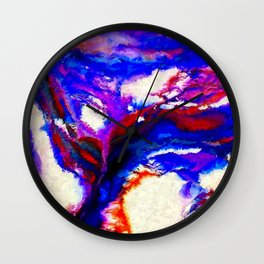 Cobalt and Violet Abstract Wall Clock
