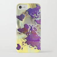 world map iPhone & iPod Cases featuring World Map by Roger Wedegis