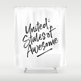 United State of Awesome Shower Curtain