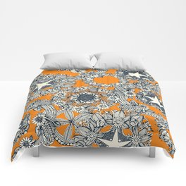 cirque fleur papaya Comforters