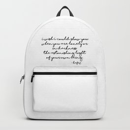 The astonishing light of your own being - Hafiz Backpack