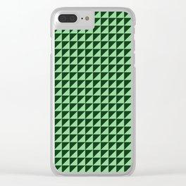 Green Triangulate Clear iPhone Case