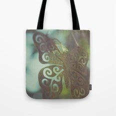 Bokeh With Butterfly Wings Tote Bag