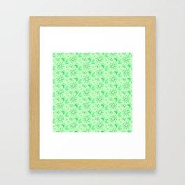 Neon Lime Green Midcentury Framed Art Print