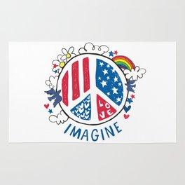 Imagine Peace And Love Rug