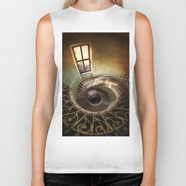 Spiral staircaise with a window Biker Tank