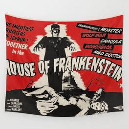 House of Frankenstein - 1944 Vintage Movie Poster Wall Tapestry