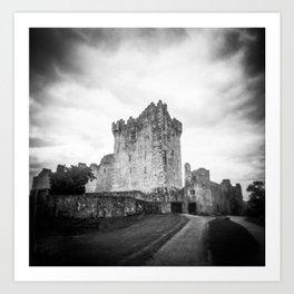 Ross Castle in Ireland in Black and White - Holga Film Photograph Art Print