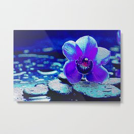 Spreckled Orchid Metal Print