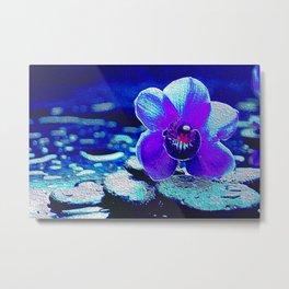 Spreckled Orchid Metal Print