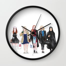 Skam Girls Wall Clock