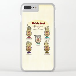 Popular Potato Head Hairstyles Clear iPhone Case