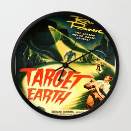 Vintage poster - Target Earth Wall Clock