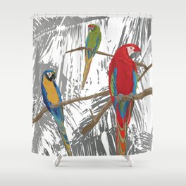 Spice Island Tropical Bird Art Print Shower Curtain