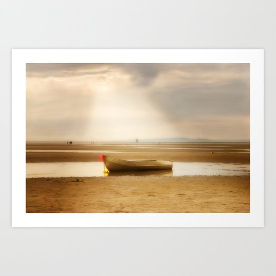 White Rock Rowboat II Art Print