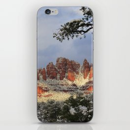 Red Rocks and Snow iPhone Skin