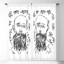 Self Portrait Henri Matisse Line Artwork Sketch For Prints Tshirts Posters Bags Men Women Youth Blackout Curtain