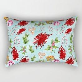 Beautiful Christmas Pattern with Australian Native Flowers Rectangular Pillow