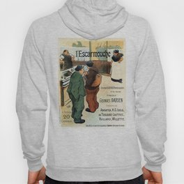 L'Escarmouche Vintage French bar scene Hoody