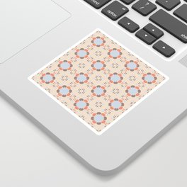 Blue Retro Tile Sticker