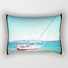 Dans la baie de Saint-Malo Rectangular Pillow