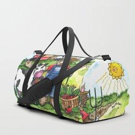 Farmer Fluffy at Harvest Time Duffle Bag