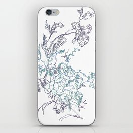 Flowers from an old Paris dish iPhone Skin