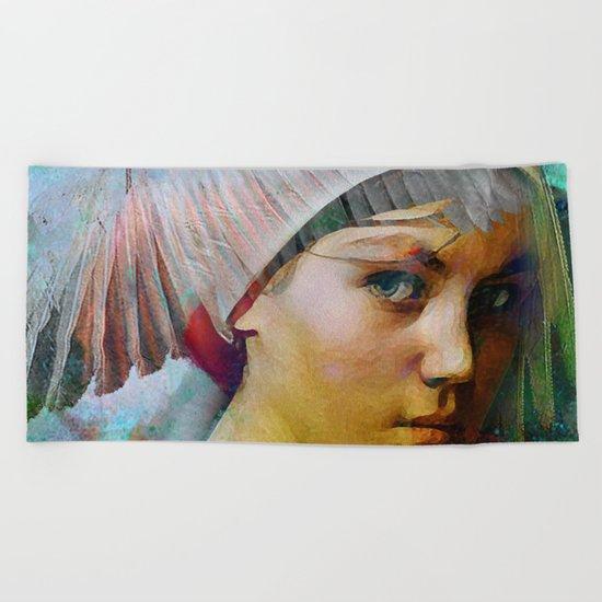 Memory of your look  Beach Towel