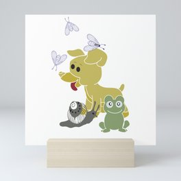 Frogs and snails and puppy dog tails Mini Art Print