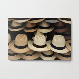 Panama Hats Metal Print