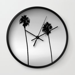 Black and White San Diego Palms - California Wall Clock