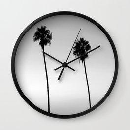 Black and White San Diego Palms - California Wall Clock