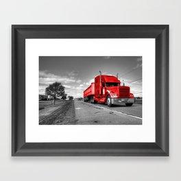 Big Red Rig  Framed Art Print