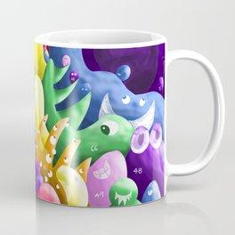Numbered Rainbow Monsters Coffee Mug