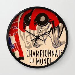Retro cycling world championships 1935 Brussels Wall Clock