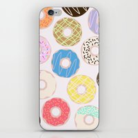 donuts iPhone & iPod Skins featuring Donuts by Alexandra Aguilar