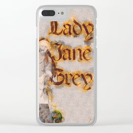 Lady Jane Grey artwork Clear iPhone Case