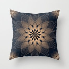 Mandala Spirits Journey / Spiritual Bohemian Gold Black Meditation Yoga Mandala Throw Pillow