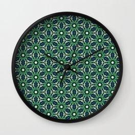 Green Cells Wall Clock