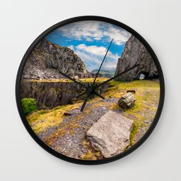Dinorwic Slate Quarry Snowdonia Wall Clock
