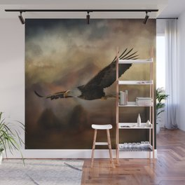 Eagle Flying Free Wall Mural