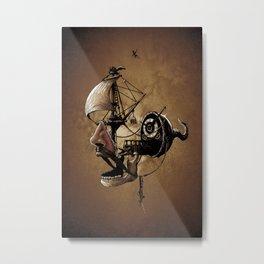 destructured pirate #Hook Metal Print