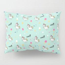 world of unicorns and ice cream Pillow Sham