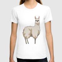 llama T-shirts featuring Llama by Nemki