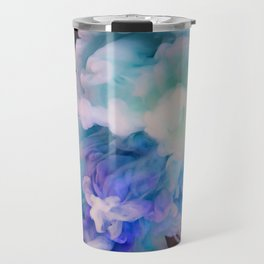 Ink in Water | Blue and Pink Watercolor | Abstract Travel Mug