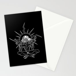 MEDITATION MEDICATION Stationery Cards